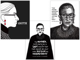 Ruth Bader Ginsburg Quote Print Set. Fine Art Paper, Laminated, or Framed. Multiple Sizes