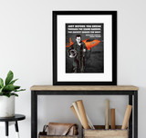 Chuck Yeager Break the Sound Barrier Quote Art Print. Matte Paper, Laminated or Framed. Multiple Sizes