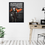 Chuck Yeager Quote Print Set. Fine Art Paper, Laminated, or Framed. Multiple Sizes