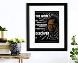 The World is a Possibility Ralph Ellison Quote Art Print. Matte Paper, Laminated or Framed. Multiple Sizes