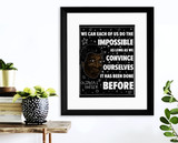 We Can Do the Impossible Octavia Butler Quote Art Print. Matte Paper, Laminated or Framed. Multiple Sizes