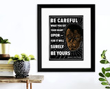 Be Careful What You Set Your Heart On James Baldwin Quote Art Print. Matte Paper, Laminated or Framed. Multiple Sizes