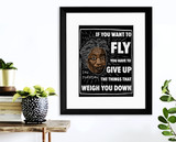 If You Want to Fly Toni Morrison Quote Art Print. Matte Paper, Laminated or Framed. Multiple Sizes