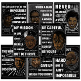 Twentieth Century Black Authors 8 Poster Set. Fine Art Paper, Laminated, or Framed. Multiple Sizes Available for Home, Office, or School.