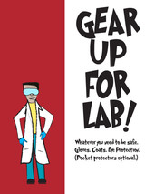 Science Lab Safety Poster Set. Plain Paper, Laminated, or Framed. Multiple Sizes Available.