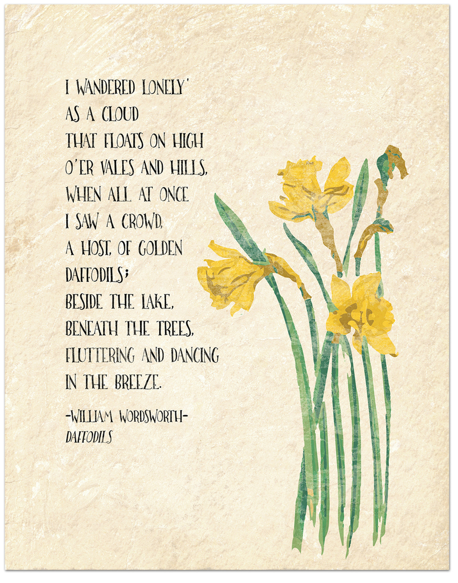 Floral Poems Watercolor Art Print Set Featuring Poets William Wordsworth Aa Milne And Edna St Vincent Millay
