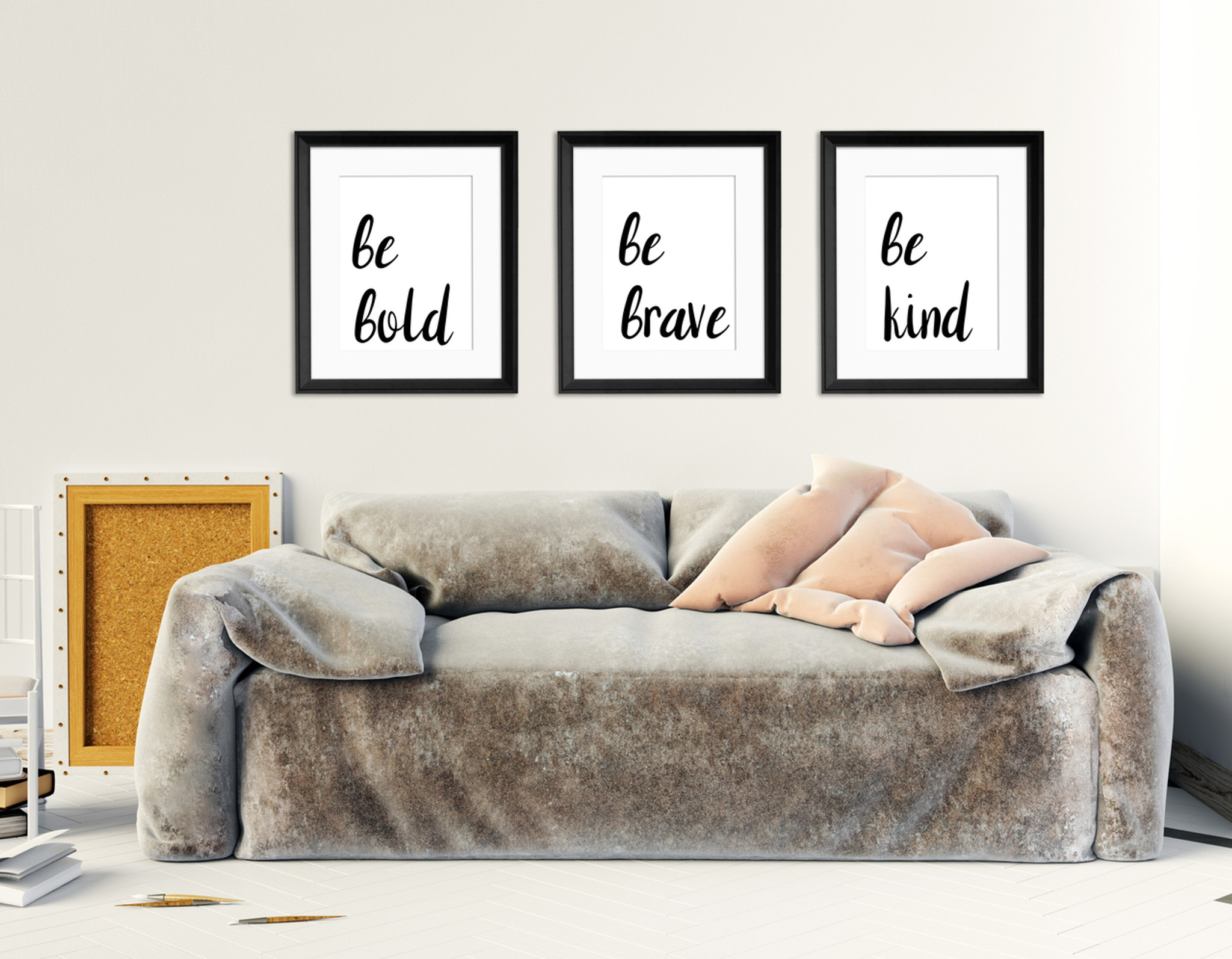 Be Kind Be Brave Be Bold Quote Set Of Three Inspirational Quote Prints Fine Art Paper Laminated Or Framed Multiple Sizes Available For Bedroom