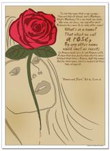 Rose, Romeo an Juliet Literary Poster
