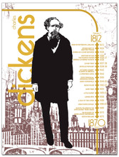 Charles Dickens Literary Timeline Poster