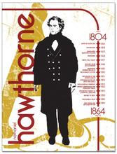 Nathaniel Hawthorne Literary Timeline Poster