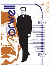 George Orwell Literary Timeline Poster