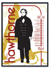 Nathaniel Hawthorne Literary Poster
