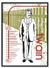 Mark Twain Literary Poster