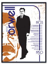 George Orwell Literary Poster