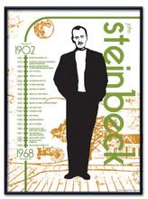 John Steinbeck Literary Poster