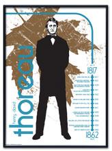 Henry David Thoreau Literary Poster