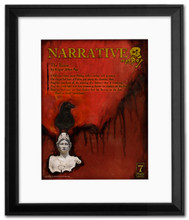 Narrative Literary Poster Framed