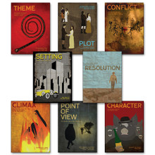Elements of a Novel Poster Set