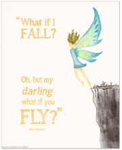 What if You Fly? Children's Literature Inspirational Quote Poster