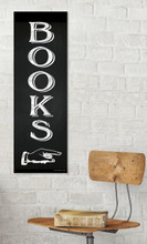 Books - Literary Poster, Chalkboard Style Art Print For Classroom, Home or Library