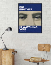 Nineteen Eighty Four, George Orwell Literary Print. Fine Art Paper, Laminated, or Framed. Multiple Sizes Available for Home, Office, or School.