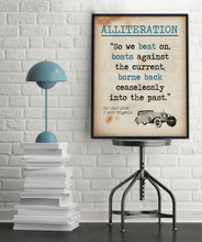 Literary Terms Posters - Set of 8 Literary Posters for Classrooms. Fine Art Paper, Laminated, or Framed. Multiple Sizes Available for Home, Office, or School.