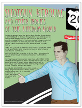 Ironies Famous Authors Literary Fine Art Print Featuring Kerouac, Shakespeare, and Irving