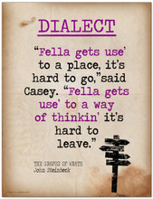 Dialect Featuring a Quote from John Steinbeck`s The Grapes of Wrath - Literary Terms 2