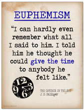 Euphemism Featuring a Quote from J.D. Salinger`s The Catcher in the Rye - Literary Terms 2