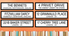 Grimmauld Place Harry Potter Literary Street Sign