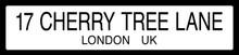 Cherry Tree Lane Mary Poppins Literary Street Sign