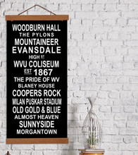 WVU Mountaineer Subway Sign. Fine Art Print. Multiple Sizes Available for Home, Office, or School.