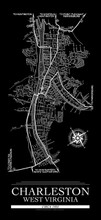 Vintage 1922 Charleston Map. Fine Art Print For Office, Library, Home or Dorm