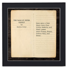 The Tale of Peter Rabbit by Beatrix Potter, Opening Line Children's Literary Quote Print. Fine Art Paper, Laminated, or Framed. Multiple Sizes Available for Home, Office, or School.