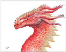 Dragons - Original Artwork Print Set. Watercolor Inspirational Print.  Fine Art Paper, Laminated, or Framed. Multiple Sizes available for Home, Office, or School.