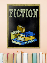 Fiction - Customizable Library Fine Art Print for Library, Classroom, or School