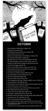 October Literary Event Calendar. Fine Art Print