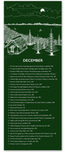 December Literary Event Calendar. Fine Art Print