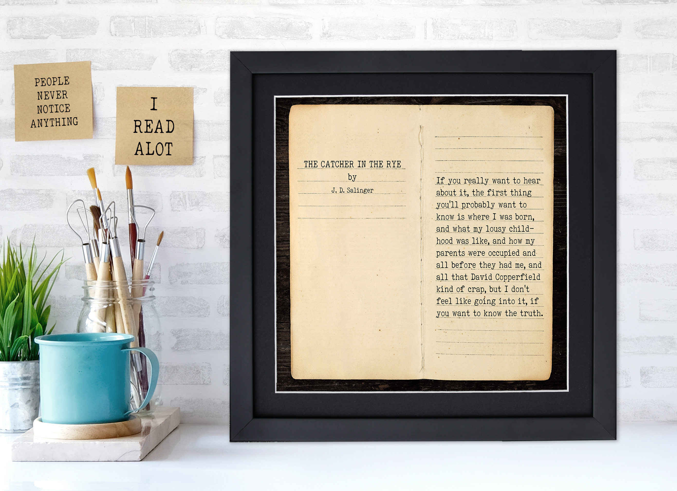 Catcher In The Rye J D Salinger Literary Quote Print Fine Art Paper Laminated Or Framed Echo Lit