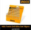 HSS twist drill bits set AKDB1195 19PCS INGCO