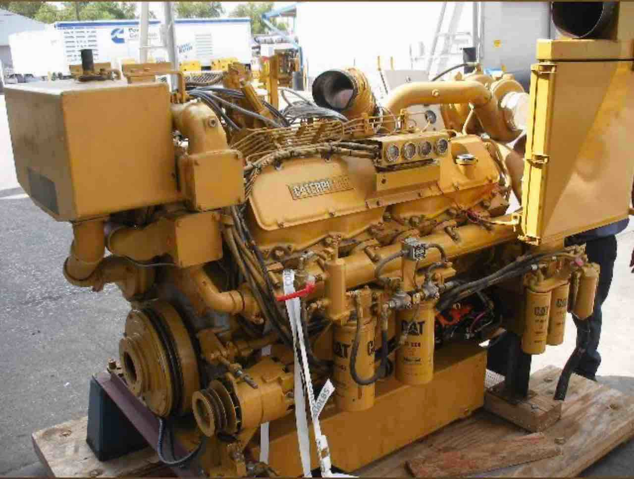 CATERPILLAR 3412, 1800RPM MARINE DIESEL ENGINE REMAN - GZ