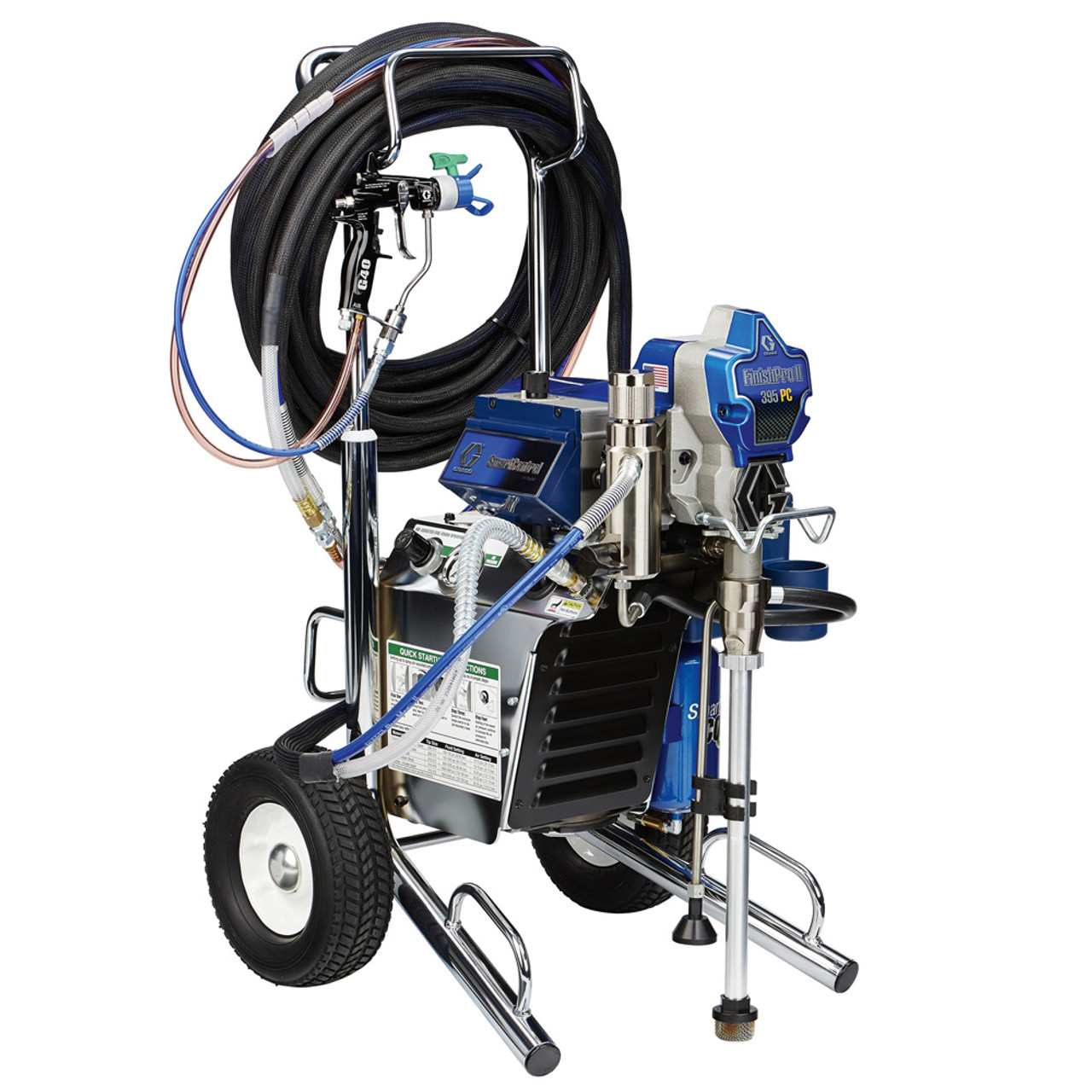 The Graco finish pro 11 395 air assited airless spray set