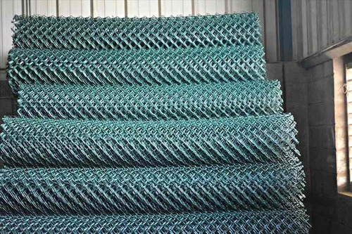 Chain Wire Fencing for sites 2.4meters by 18meters roll  coated green color