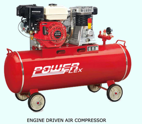 Powerflex Air compressor Diesel driven 5.5HP 100 liters Tank