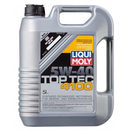 LIQUI MOLY Automobiles Car Engine Oil Top Tec 4100 5W-40 - (5Liters)