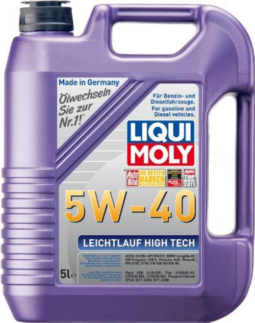 LIQUI MOLY LEICHTLAUF High Tech 5W40 Engine Oil 5 Litre