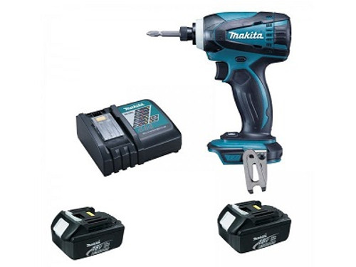 Makita DTD146RFE Cordless Impact Driver 18V 2 x 3.0 Ah Battery & Charger