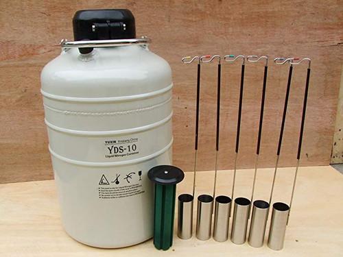 10L Cryogenic container Liquid Nitrogen dewar