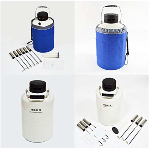 6L Cryogenic container for Liquid Nitrogen dewar  with The canisters and jacket