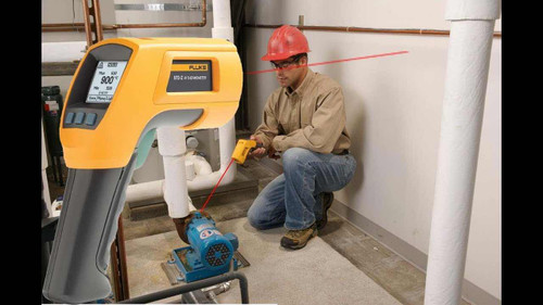 Using Fluke 566 Thermal Gun Infrared & Contact Thermometer